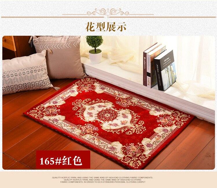 Europe Jacquard Doormat Size 60*40cm Kitchen Rugs Bathroom Mats Living Room Carpet Bedroom fur Outdoor Welcome Carpet Home Use
