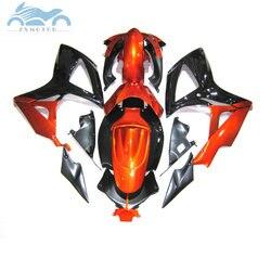 Injection mold Fairing set for Suzuki GSXR 600 K6 GSXR600 750 2006 2007 fairings kit GSXR 750 GSXR600 06 07 orange black kits