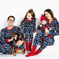 Family Look Christmas Clothing Set Mom Dad Baby Long Sleeve Xmas Pajamas Set Family Matching Clothes