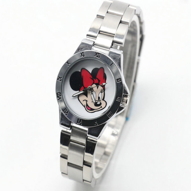 2018 New Fashion Minnie Watches Women dress steel band Girl Cute wristwatches 20
