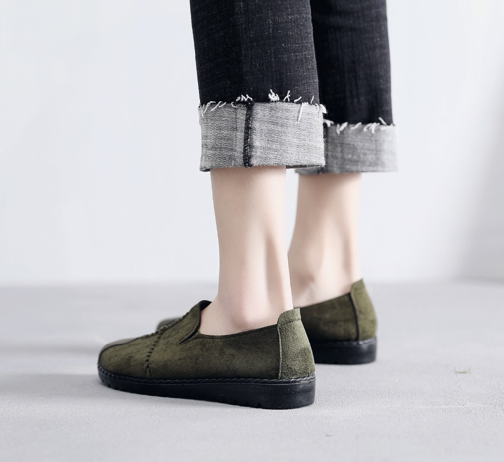 Plus Size Summer Women Flats Fashion Splice Flock Loafers Women Round Toe Slip On Leather Casual Shoes Moccasins New 2019 VT209 (20)