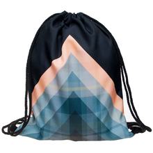 2016 new fashion Women Geometric patterns Backpack 3D printing travel softback  mochila drawstring bag School girls backpacks