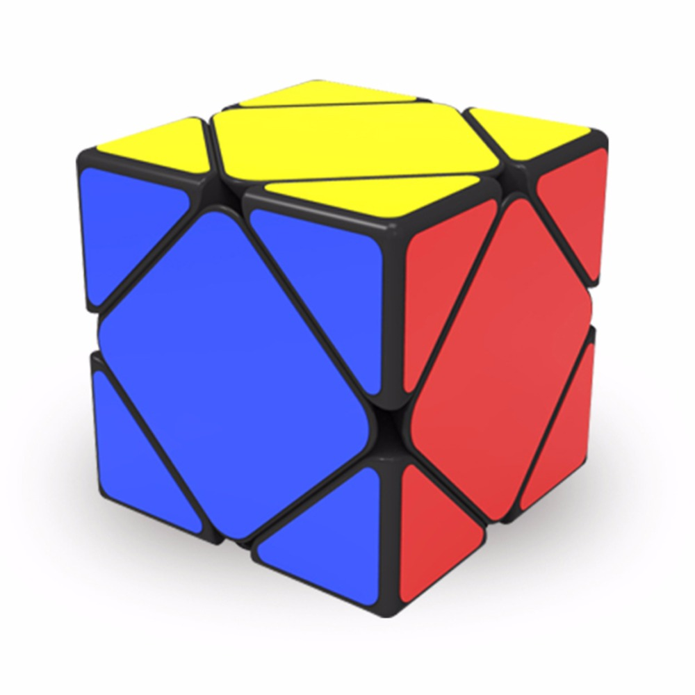 Qiyi QiCheng Skewb Speed Magic Cube 2 on 2 Speed Cube Magic Bricks Block Brain Teaser New Year Gift Toys for Children qiyi megaminx magic cube stickerless speed professional 12 sides puzzle cubo magico educational toys for children megamind