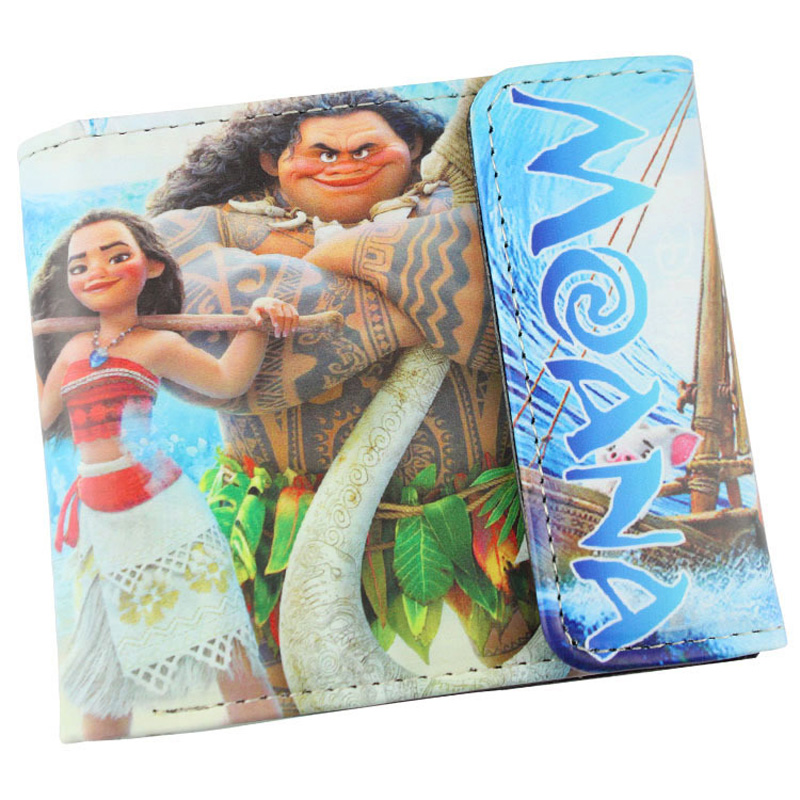Moana, Maui High Quality PU Short Wallet/Purse with Button gravity falls high quality pu short wallet folding purse with button