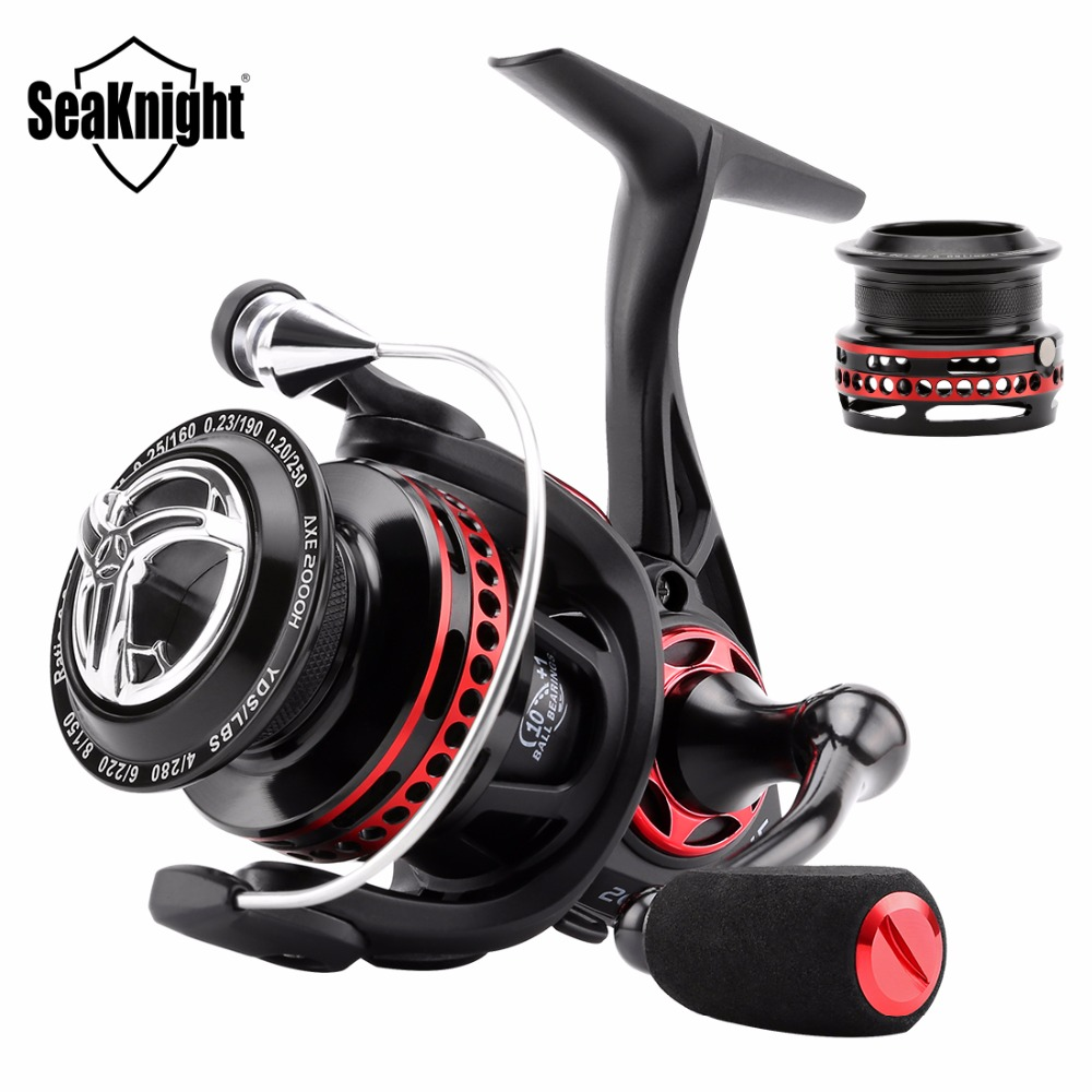 New SeaKnight AXE 2000H  6.2:1 Full Metal WaterProof Anti-Corrosion Real 11 BB Fishing Reel With Spare Shallow Spool