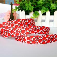22mm Valentine's Day Series red hearts Strawberry Printed grosgrain ribbon, DIY handmade materials, wedding gift wrap TSTPGR019