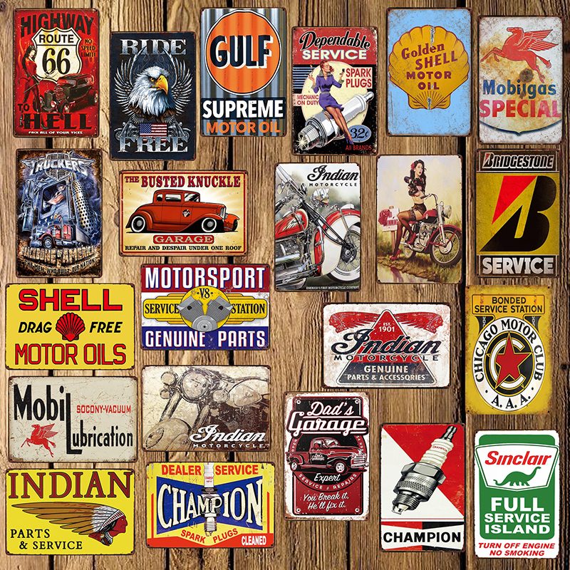 [ Mike86 ] SHELL Champion Indian Mobil Route 66 Motor Oil