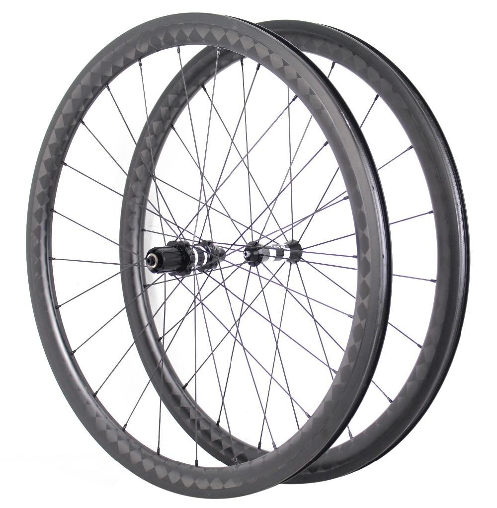 700C Racing Bicycle U-shape 56mm 18K Kevlar Carbon Road Wheels Clincher Carbon Wheelset Bitex/Chosen/DT 240s/350s Black Hubs racing wheels h 480 7 0 r16 4x114 3 et40 0 d67 1