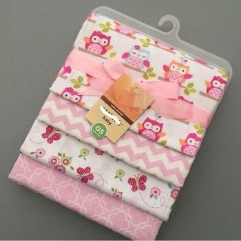 цена на 4 pcs/lot newborn Baby bed sheets 100% cotton crib sheet 76 x 76 cm baby bedding set super soft infant sheets for boys girls