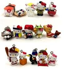 10pcs lot random send mini 1 2cm original hello kitty action figure collectible model font b
