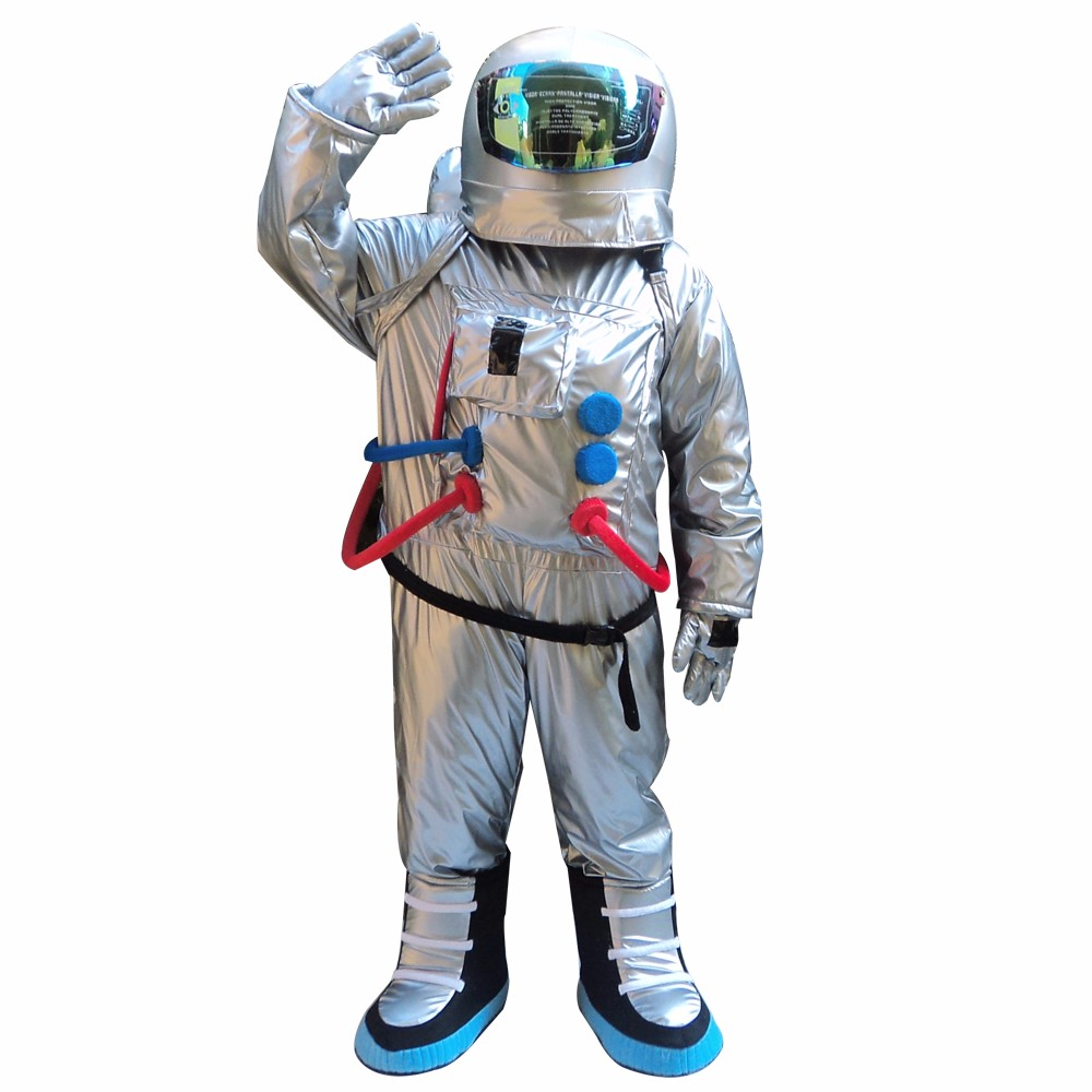 Mens Adults Spaceman Astronaut Silver Space Suit Fancy Dress Costume Outfit