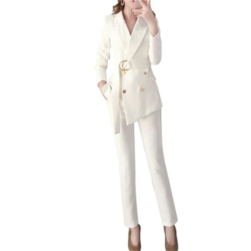 Fashion white suit suit female spring and autumn 19 New high quality women s temperament small
