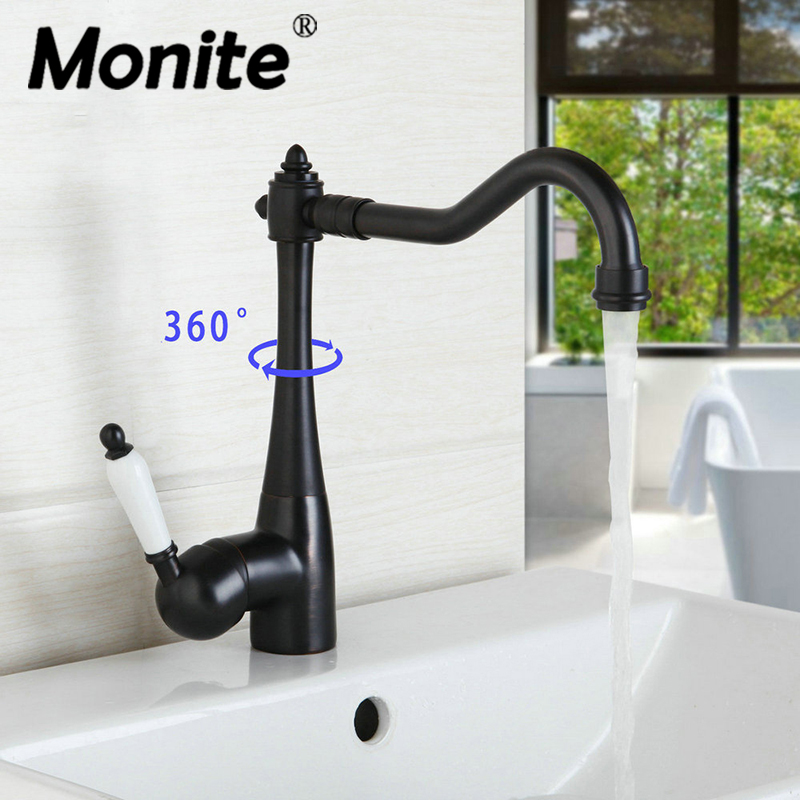 360 Swivel Kitchen Faucets Swivel Oil Rubbed Bronze Deck Mounted Mixer Tap Bathroom Faucet Basin Mixer Hot Cold Tap Faucet 360 swivel kitchen faucets swivel oil rubbed bronze deck mounted mixer tap bathroom faucet basin mixer hot cold tap faucet