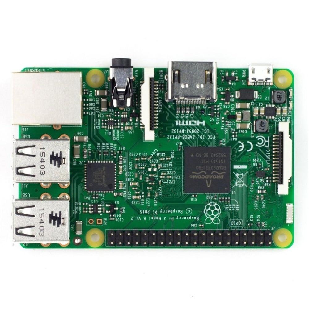 Raspberry Pi 3 Model B Onboard Wireless LAN Wifi Adapter 1.2GHz Quad Core 64Bit 1GB RAM Support HDMI Video Output USB2.0 Board