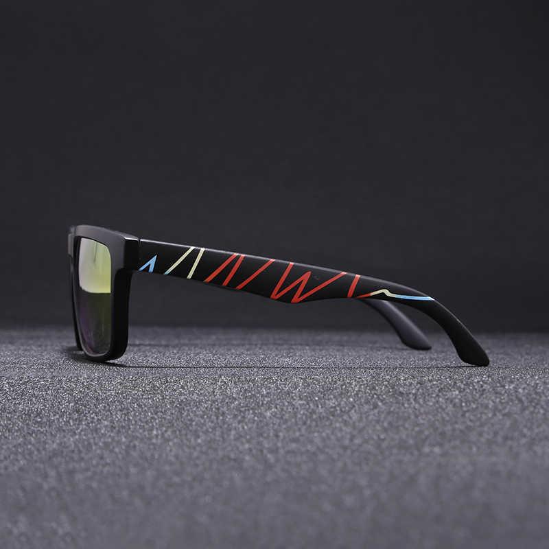 57e06a0eb2d2 ... Super Deal New Men Sport sunglasses Square Frame Reflective Coating Sun Glasses  Women Brand Design HD ...