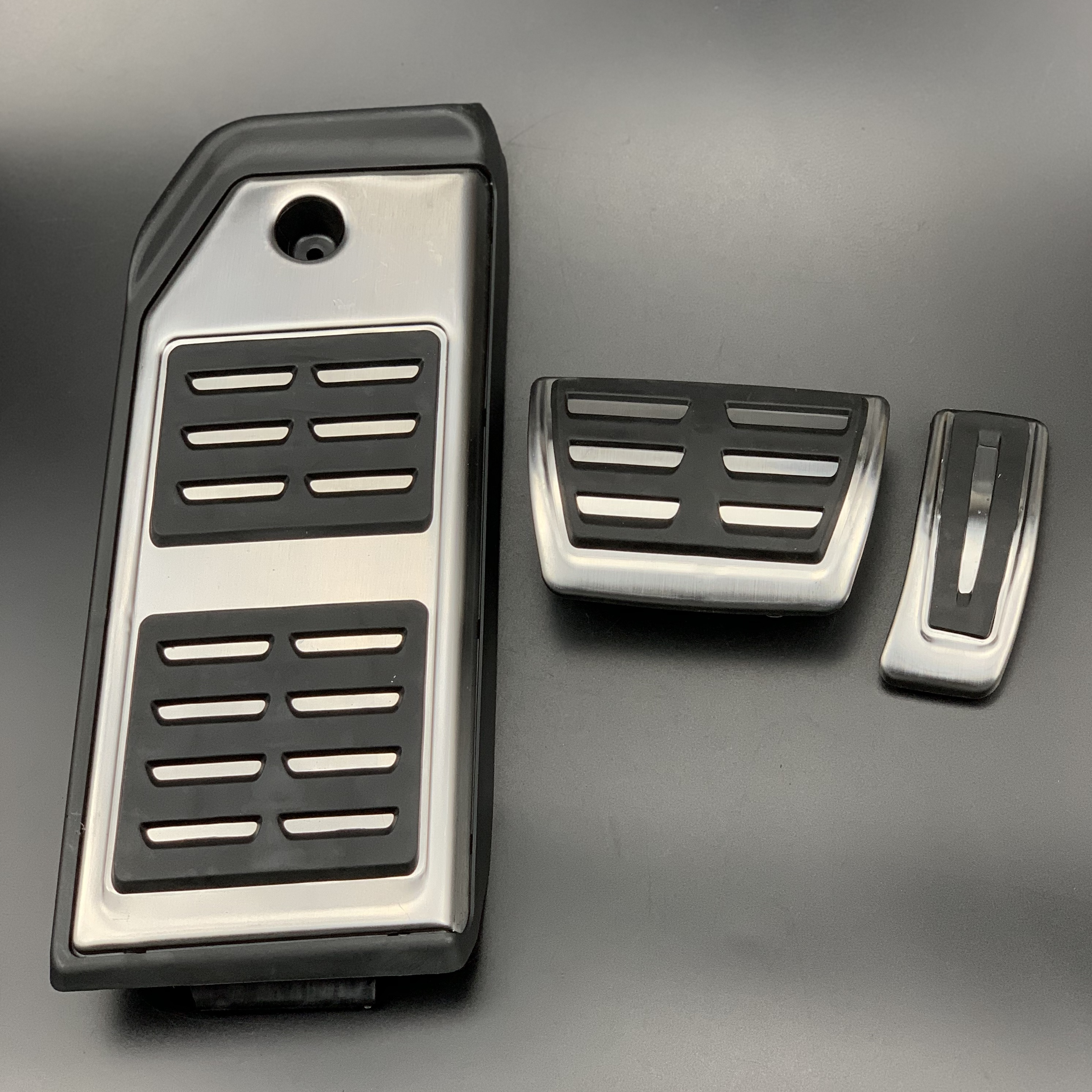 RS Genuine LHD OE Pedals set for Audi Pedal pads Cover Foot rest rs4 rs5 rs6