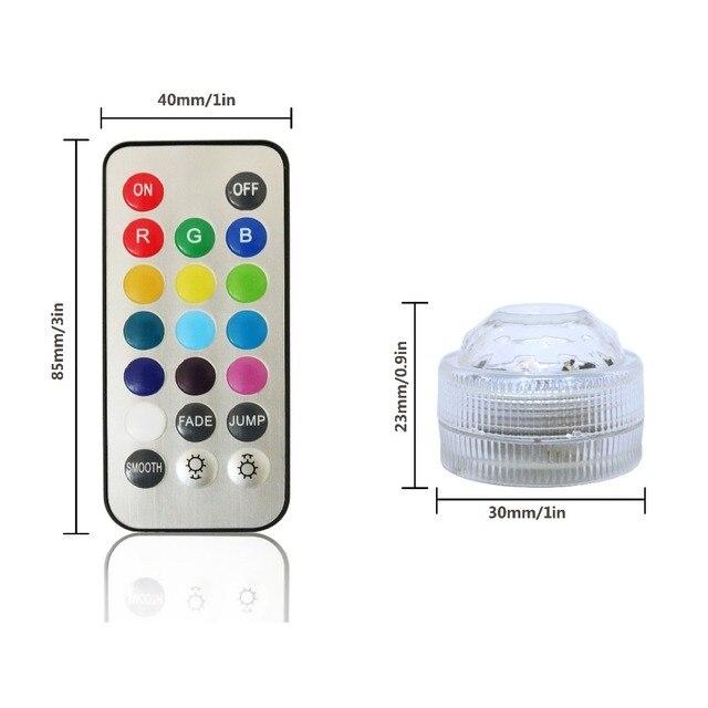 Afstandsbediening Lamp 12 STKS RGB Kleur Kleine Batterij aangedreven ...