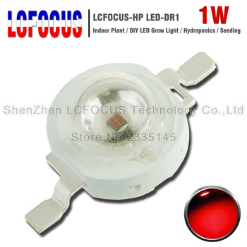 20 sztuk wysokiej jakości rosną LED 1 W głęboki czerwony 660nm układ LED 630nm COB SMD do DIY LED rosną światło żarówki dla kryty roślin hydroponika tanie i dobre opinie Piłka LCFOCUS-HP LED-DR1 1W 300-350mA 2-2 4 V 1 Watt Deep Red Red 640-660NM 620-630NM 30x30MIL 40-60LM 120 Degrees
