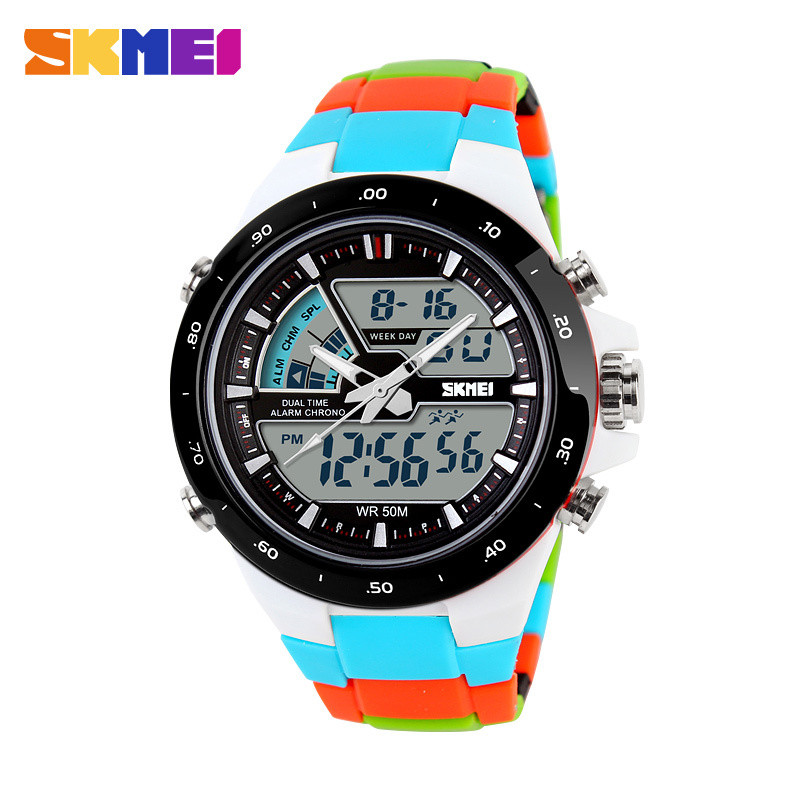2016 Vrouwen Sport Horloges Waterdicht Fashion Casual Quartz Horloge Digitale Analoge Militaire Multifunctionele Dames Horloges