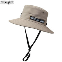 XdanqinX 2019 New Adult Men's Fishing Cap Bucket Hats Fashion Wild Casual Women's Sunhat Wind Rope Fixed Tourist Couple Hat цены