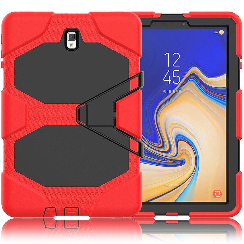 For Samsung Galaxy Tab S4 10.5 SM-T830 T835 T837 Tablet Kids Skin Military Heavy Duty Silicone+PC Rugged Stand Protective Cover