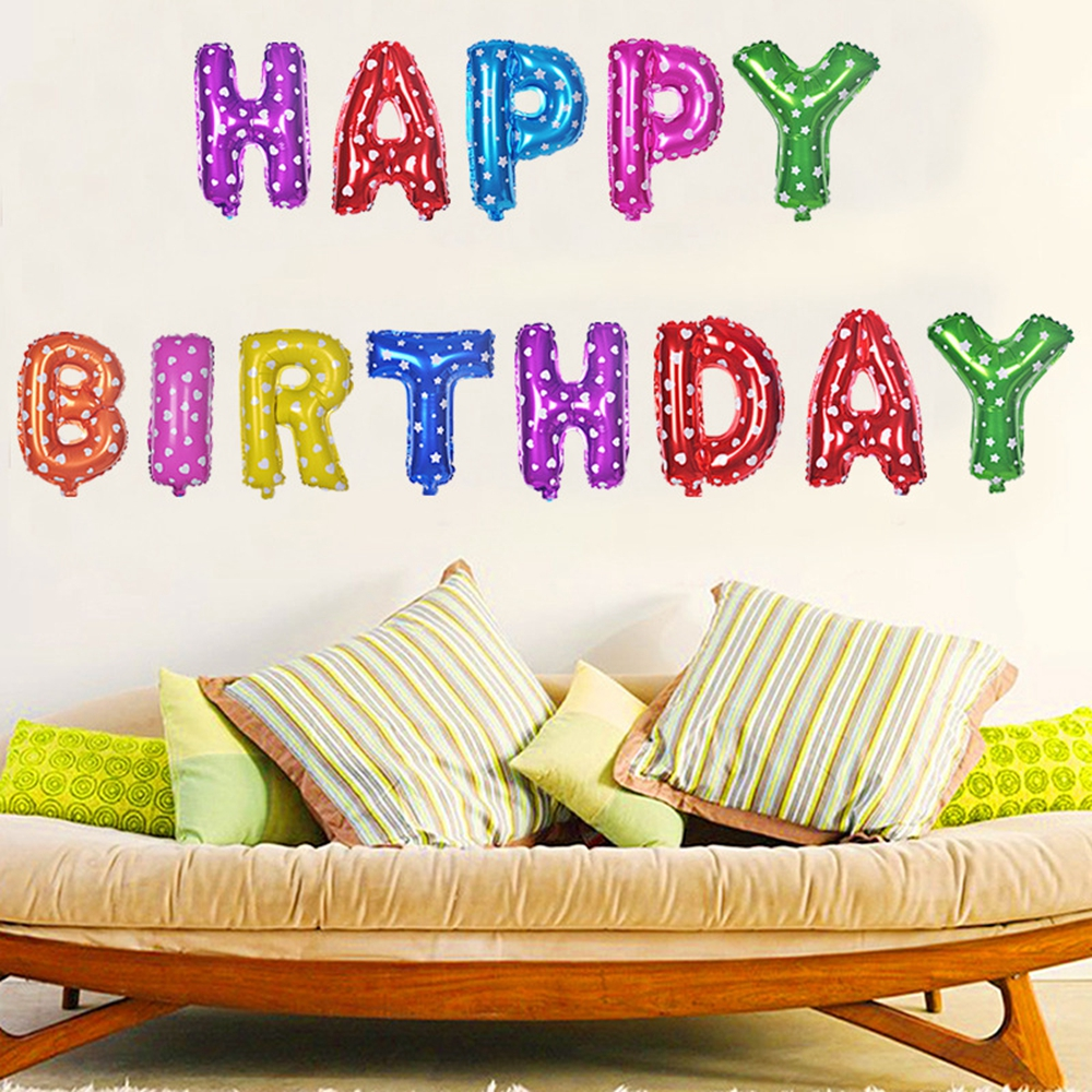 Gekleurde Engels Letters Ballon Set Happy Birthday Verjaardag Ballon