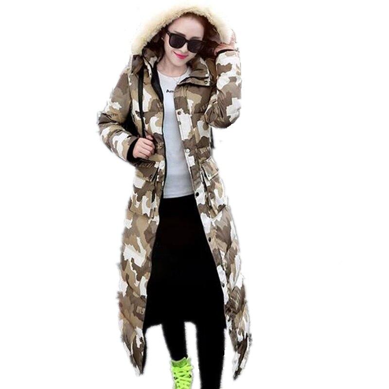 Haute Camouflage Overknee Chaud Coton Army À Capuchon Qualité De Mode Femmes Manteau Ceintures Vers Long Hiver Bas Green Fourrure Lcy25 Donner Le wqtrtfI