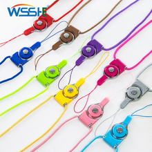 Mobile Phone strap Lanyard for Keys ID card  Cell Mobile Phone Universal 6 Colors Neck Lanyard Detachable Multifunction Strap mbr cell power neck
