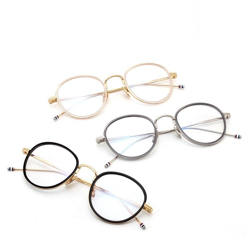 Haute qualité ronde en forme d'acétate TB905 lunettes cadre hommes rétro lunettes femmes myopie lecture lunettes Oculos De Grau - 5