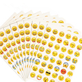 12 piece / pack for popular emoticons  Emoji Smile face stickers each containing three different sticker for children's gift toy