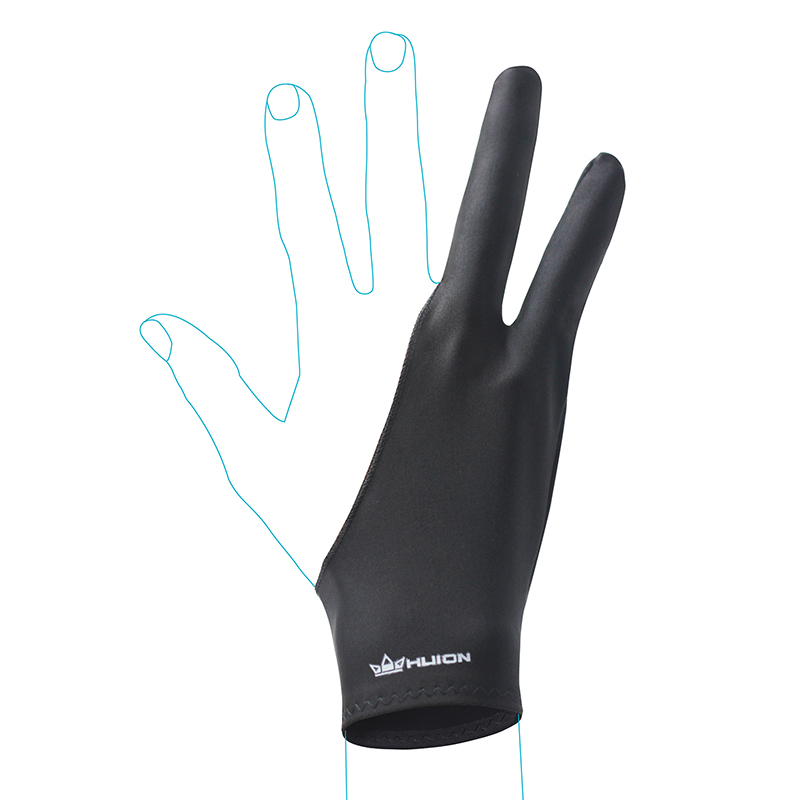 Huion Anti-fouling Drawing Glove for Graphics Tablet Pen Monitor Digital Drawing Tablet Light Box Tracing Board Free Size--CR-01