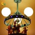 3D Fantasy Carousel Kids Room ceiling lamps bedroom children boys and girls led Pendant Lights
