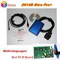 Melhor Para VO--LVO DICE PRO 2014D Chip Full Multi-Línguas Firmware Update & J2534 Protocolo de Auto-Teste Para Vo lvo Dice vida --