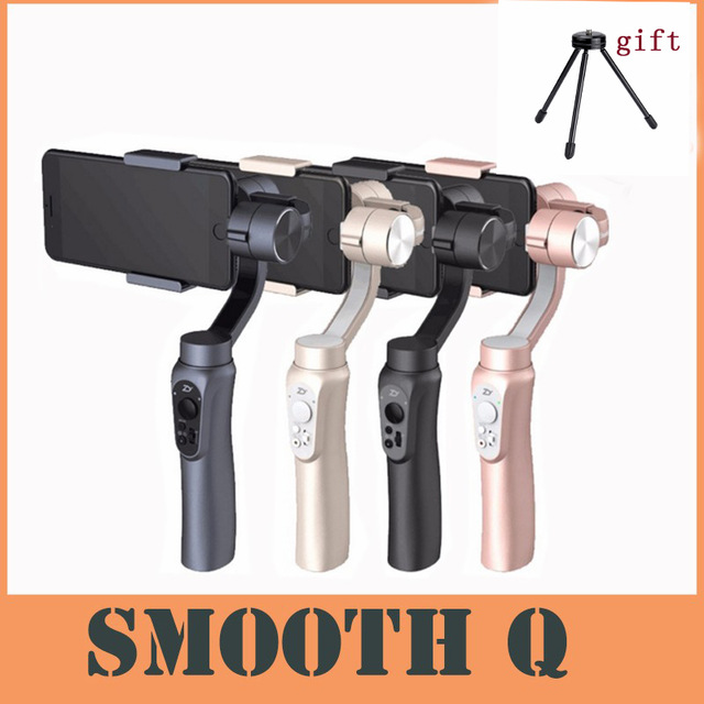 Zhiyun Smooth Q 3-Axis Handheld Smartphone Gimbal Stabilizer for iPhone X 8 7 Samsung S8 HUAWEI with Gimbal-Mini-Tripod for gift