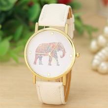 Fashion Watch Women relogio feminino Elephant Pattern Weaved Leather Cartoon Quartz Watches Casual Dress Clock Relojes Mujer