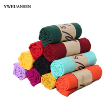 YWHUANSEN Autumn Winter Scarves For Women Cotton and Linen Women's Scarves Ethnic Style Scarves From Pashmina Pure Color Shawls(China)