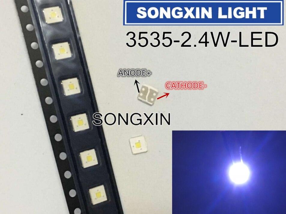 1000PCS LUMENS Flip Chip LED 2 4W 3V 3535 cool white 153LM LCD Backlight for TV