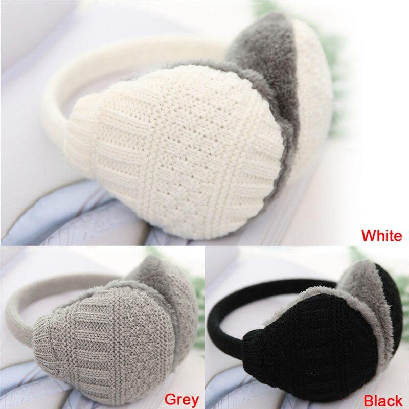 New Style Winter Earmuffs Women Warm Unisex Ear Muffs Winter Ear Cover Knitted Plush Winter Ear Warmers