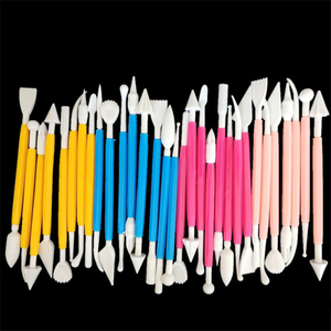 Image 5 - 8 Cái/lốc Bánh Kẹo Bánh Ngọt Khắc Cắt 16 Hoa Văn Hoa Đường Thủ Công Để Tạo Hình Dụng Cụ Đất Sét Fondant Bánh Trang Trí Dụng Cụ