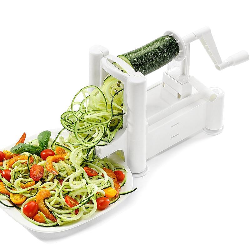 1 set Manuel Spirale Râpe Trancheuse Pour Fruits Légumes Cutter De Pommes De Terre Julienne Carotte Trancheuse Râpe À Fromage Lames Cuisine Outil