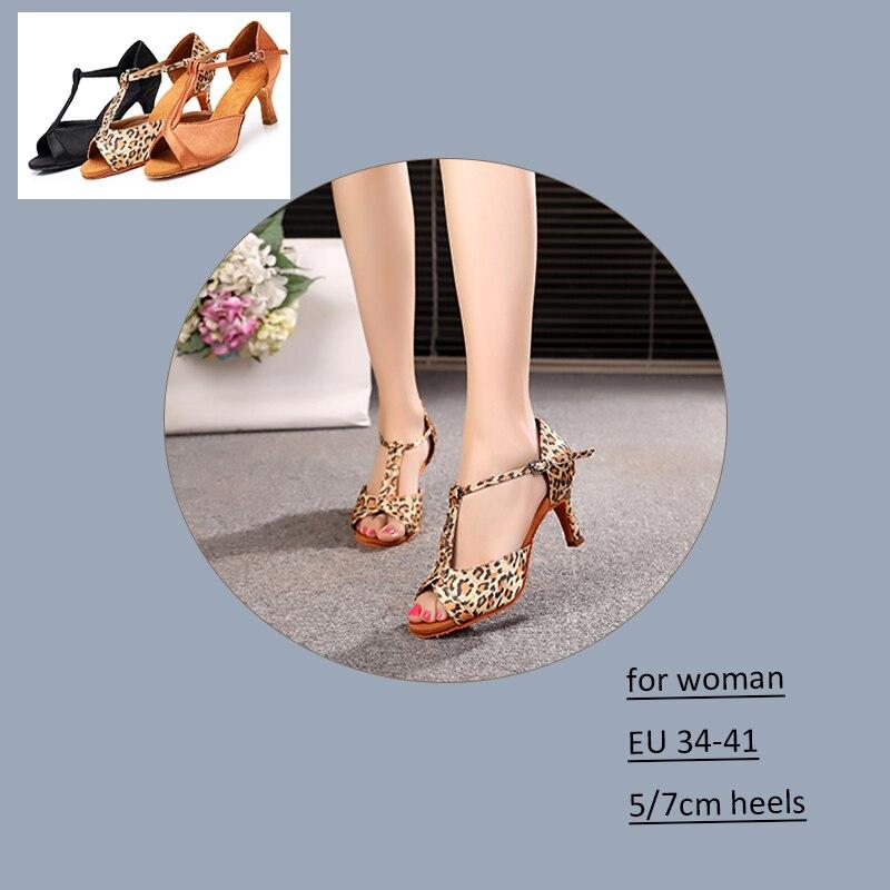 Alharbi Women Ballroom Dance Shoes Girls Professional Latin Salsa Tango Dancing Shoes At Parties High Quality Soft Sole 7cm/5cm