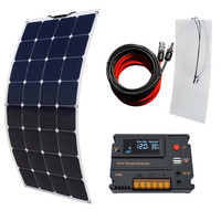 Система солнечной панели: 100 Вт Гибкая моно солнечная панель + 10А Контроллер для RV лодки