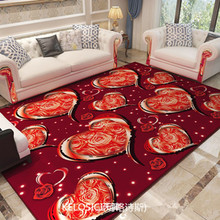 High-end Love Heart Printed carpets for living room Bedroom Anti-slip Floor Mats Bedside rugs and nordic decoration home