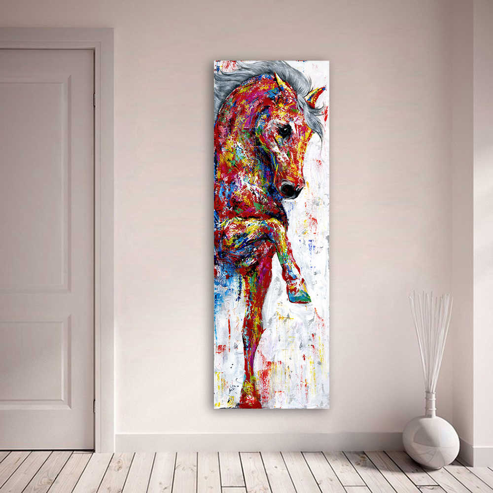 Horse Picture Wall Art Canvas Painting Poster Prints Animal Painting Home Decor No Frame Home Decor