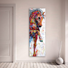 Horse Picture Wall Art Canvas Painting Poster Prints Animal Painting Home Decor No Frame Home Decor(China)
