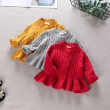 Handwork Long Sleeve Girls Sweaters Cute Baby Cardigan Autumn Winter Toddler Sweater Kids Knitwear Clothes