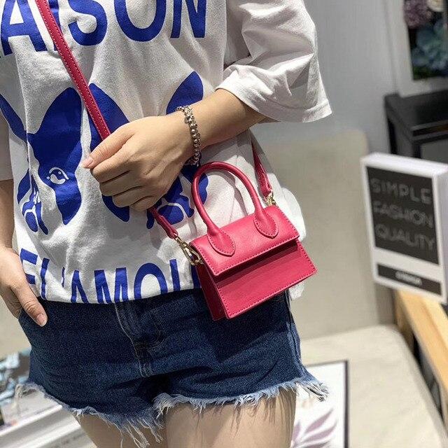 ¡Moda 2019! Bolso pequeño de piel sintética con asa superior, bolso de hombro de poliuretano, bolsos cruzados con solapa, bolsos de mensajero para mujer