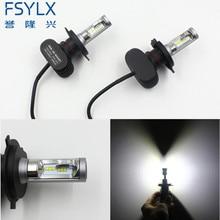 FSYLX Car H4 LED Headlight Conversion Kit Hi-Lo Beam 50W 8000LM 6500K H13 9004 9007 LED Fog Lamp Bulb for AUDI/TOYOTA/KIA/VW