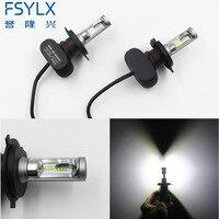 New Design H4 Led Headlight Cars High Low Beam 50W 8000lm Fog Light Kit LED Lamp