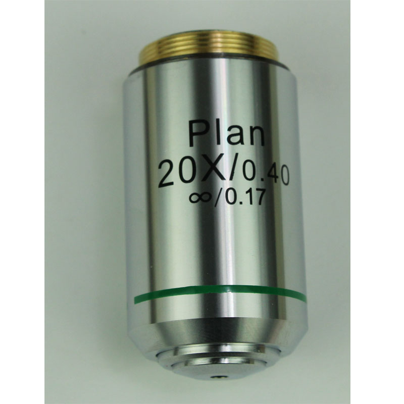 Professional 20X 60X Achromatic Plan Infinity Objective Lens 195mm Biological Microscope Objective Lens